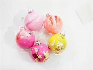 Blattgold Anlegemilch Anleitung : diy weihnachtskugeln marmorieren ordnungsliebe ~ Lizthompson.info Haus und Dekorationen