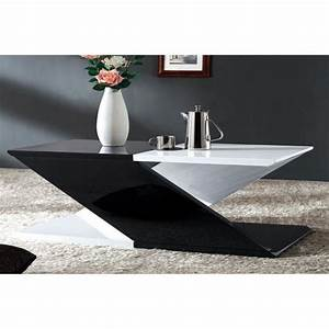 Table Basse Bois Et Noir : table basse noir et blanc table basse gigogne maisonjoffrois ~ Teatrodelosmanantiales.com Idées de Décoration