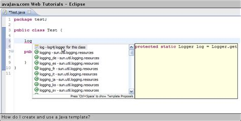 What Is Template In Java by How Do I Create And Use A Java Template Web Tutorials