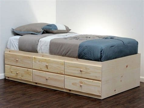 twin xl captains bed twin storage bed bed frame