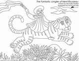 Coloring Pages Rousseau Henri Jungles Fantastic Eerdmans sketch template