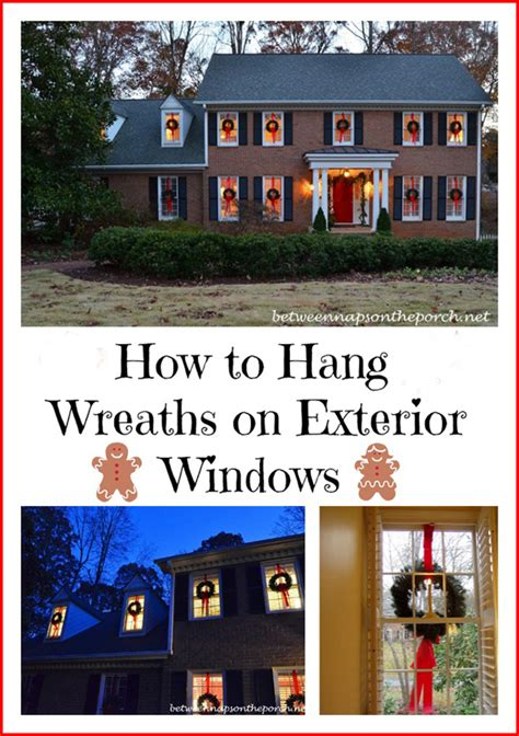 how to hang christmas lights around windows how to hang wreaths on outside exterior windows