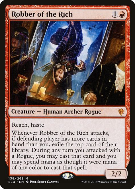 Adventures are all creatures that have an instant or sorcery attached. Robber of the Rich · Throne of Eldraine (ELD) #138 · Scryfall Magic: The Gathering Search