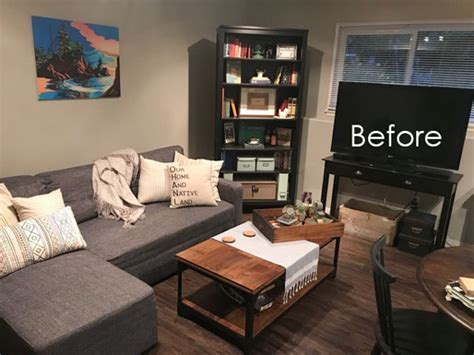 Before & After; How to Brighten a Dark Room the Easy Way
