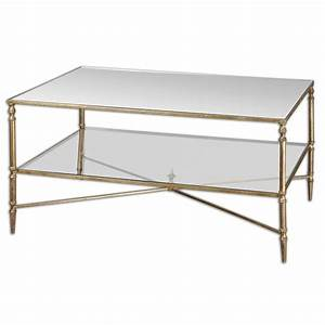 uttermost henzler mirrored coffee table 24276 shine With henzler coffee table