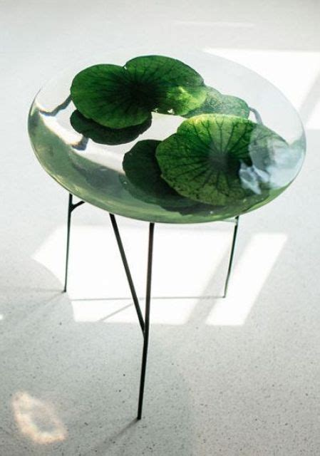 resin tables  add  natural feel   home