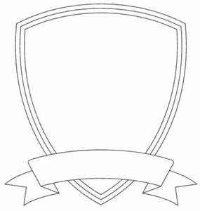 badge outline shield template image vector clip art With badge size template