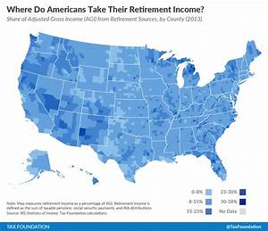 Retirement Growth Chart Where Do Americans Take Their Retirement Income Tax