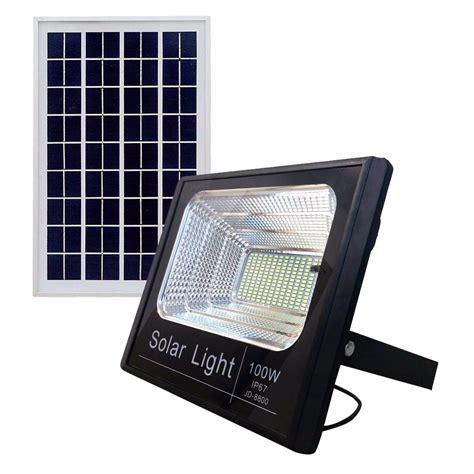 Led Solar by Refletor Holofote Ultra Led Solar 100w Real Placa Completo