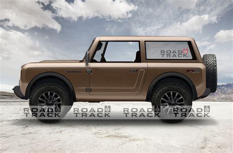 ford bronco renders based  official teaser