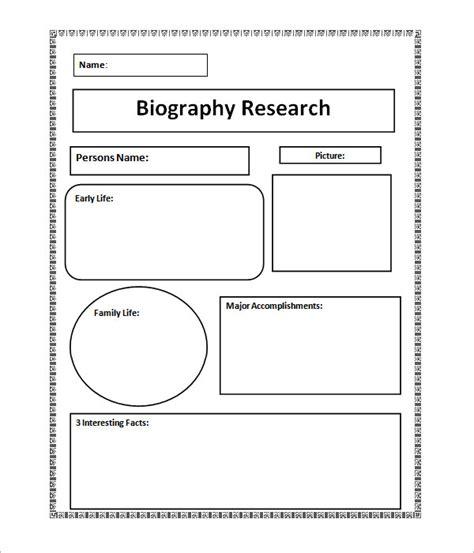 bio template 7 biography sles pdf sle templates