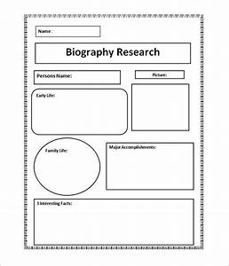 7 biography samples sample templates With template for writing a biography