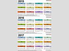 201520162017 Calendar 4 ThreeYear Printable Excel
