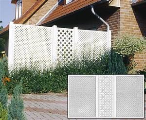 Sichtschutz Terrasse Set Aus Weiem HDPE 190x355 Kaufen