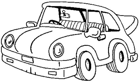 classic cartoon car coloring page kids coloring pages