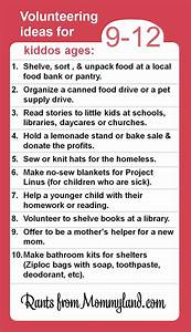 Volunteer and service ideas for kiddos ages 9-12. Kids can ...