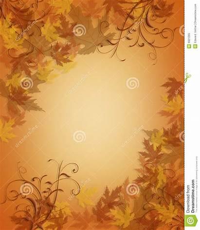 Thanksgiving Background Fall Autumn Leaves Invitation Potluck