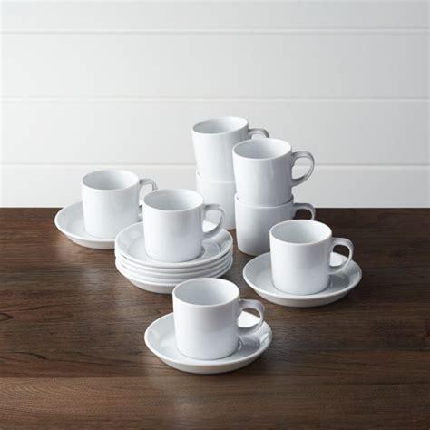 Set of 8 Verge 4 oz. Espresso Cups and Saucers   Reviews