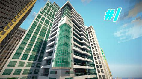 minecraft let s build a modern city ep 1 modern hotel