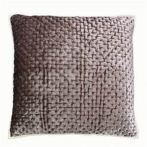 Housse De Coussin 30x30 : housse de coussin en coton et viscose 60x60 marron ~ Dailycaller-alerts.com Idées de Décoration