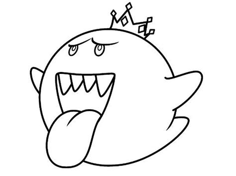 Kleurplaat Luigi Mansion by Pin By Pizza On Boo King Boo Coloring Pages