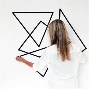 Wandgestaltung Mit Farbe Beispiele : geometrische formen tolle wandgestaltung mit farbe ~ Markanthonyermac.com Haus und Dekorationen