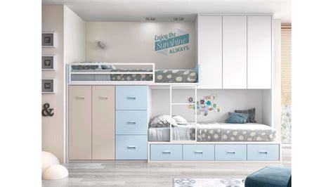 chambre avec lit superposé lit superposé avec rangement et personnalisable glicerio