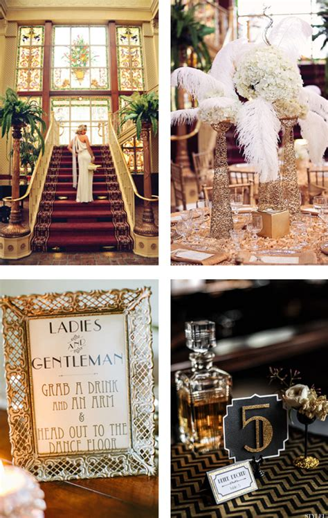 A Great Gatsby Themed Wedding: The Party of the Year