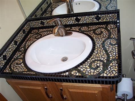 mosaic countertop 30 pictures of mosaic tile countertop bathroom