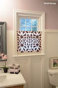 how to make a pretty diy window privacy screen thrift With how to make bathroom window private