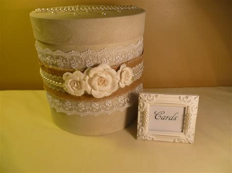 rustic luxe wedding card envelope box   gift table