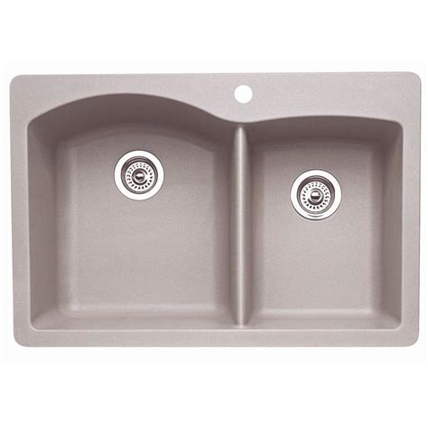kitchen sink at lowes shop blanco double basin drop in or undermount