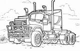 Coloring Truck Trucks Vehicles sketch template