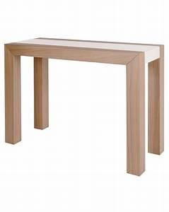 Table Console Extensible : table console extensible mirror en laque ou chene avec plateau verre ~ Teatrodelosmanantiales.com Idées de Décoration