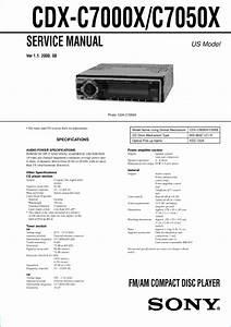 Sony Cdx C7000x C7050x