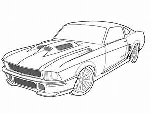 How to draw 66 mustang