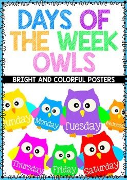 Product Of The Week An Interactive Owl Shaped Security by Days Of The Week Chart By Mrs Edgar Teachers Pay Teachers