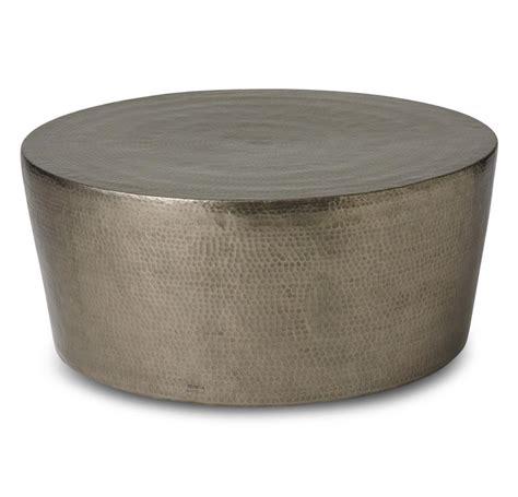 taroudant industrial loft hammered nickel coffee table