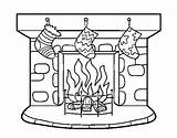 Chimney Christmas Coloring Coloringcrew sketch template