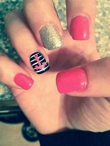 Pink Sailor Nails | Nail Art | Pinterest