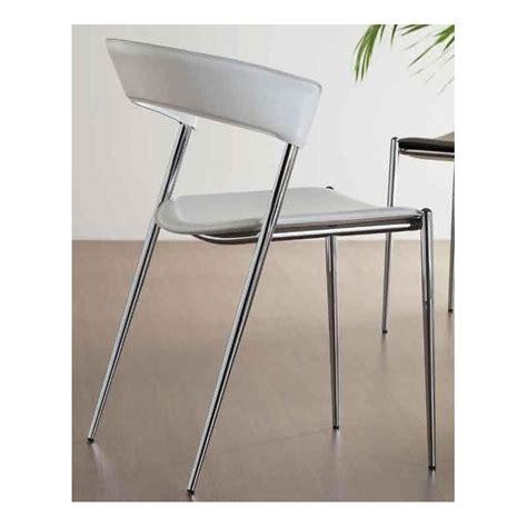Chaises En Cuir Blanc by Chaise Cuir Blanc Imola Et Chaises En Cuir Blanche Design