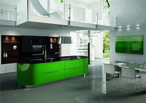 installateur cuisine cuisine aménagée contemporaine arrondie et laquée mobilier