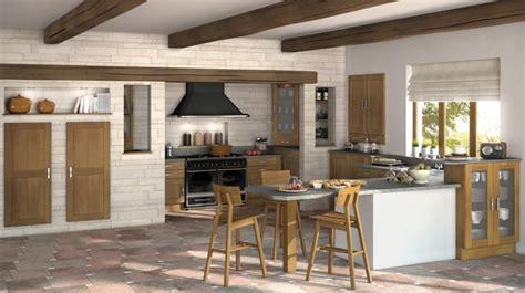 cuisine en brique  pierre en   inspirantes  voir