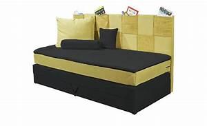 Boxspringbett 90x200 Mit Bettkasten : einzel boxspringbett 90x200 mit bettkasten gelb h ffner ~ Indierocktalk.com Haus und Dekorationen