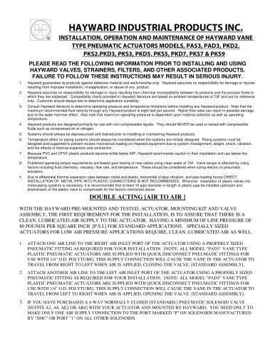Hayward Industries, Inc. 所有产品目录和PDF技术手册