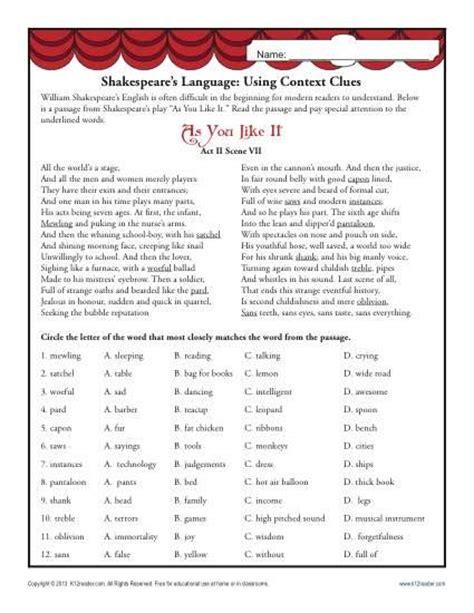 11 context cues vocab on context