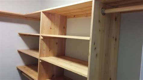 Wood Closet Systems Diy by Diy Cedar Closet Shelving System Part 1 Shelves