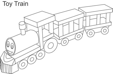 coloring pages toy train coloring page  kids