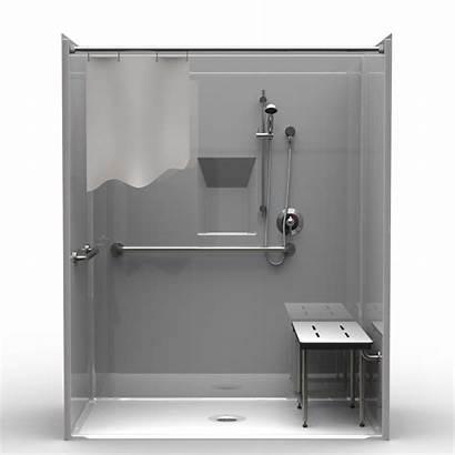 Ada Shower Roll Showers Piece Accessible Handicap