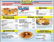 Waffle House Menu  Men...Waffle Menu